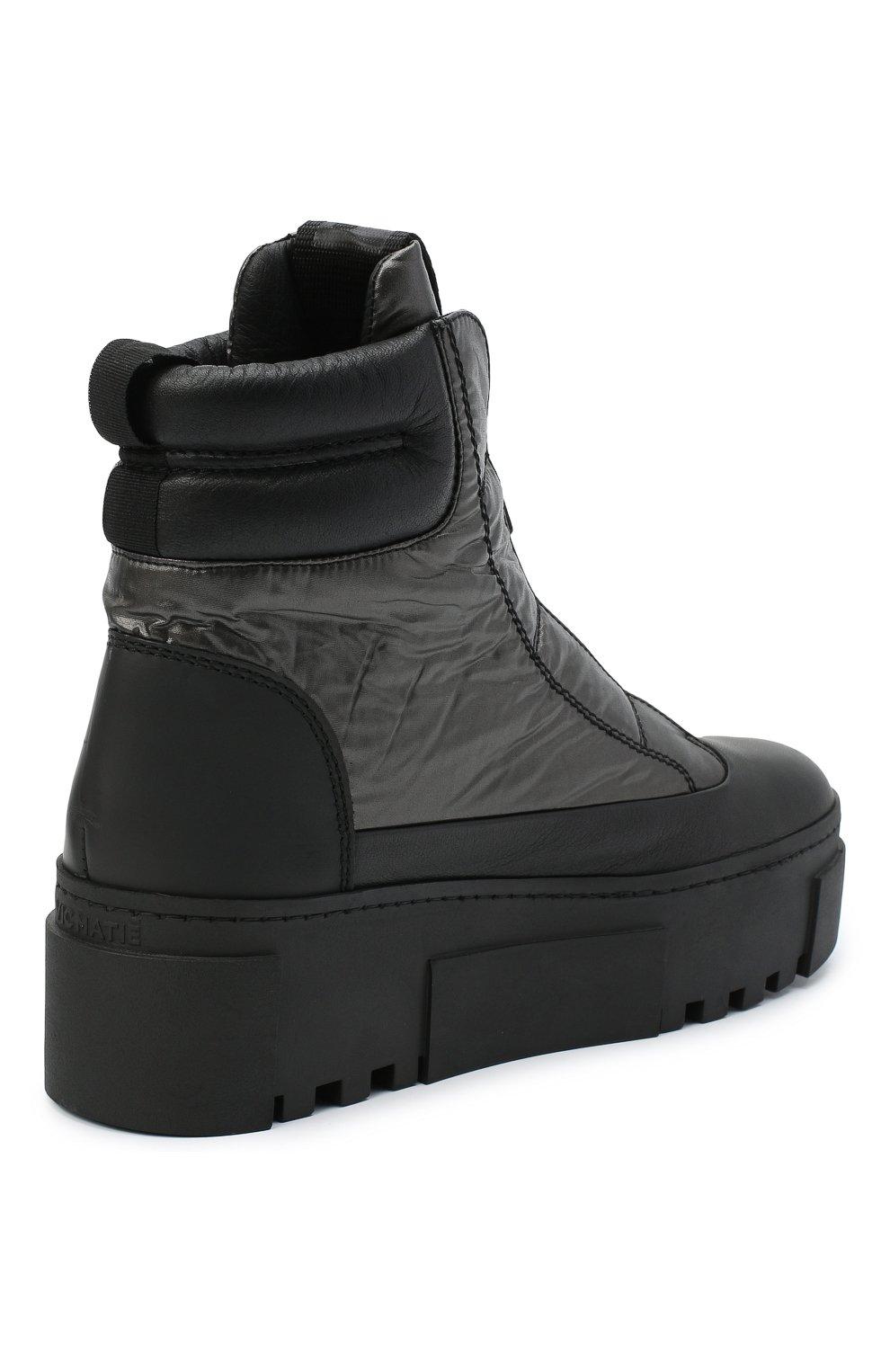 Женские комбинированные ботинки VIC MATIE черного цвета, арт. 1Y5038D.T16TZ0T330 | Фото 4