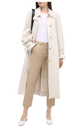 Женские хлопковые брюки 7 FOR ALL MANKIND бежевого цвета, арт. JSL4X190SA | Фото 2