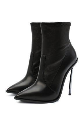 Женские кожаные ботильоны CASADEI черного цвета, арт. 1R175R120MZNGST9000 | Фото 1