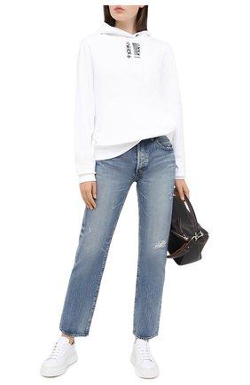 Женские кожаные кеды CASADEI белого цвета, арт. 2X813P0201T0214A745 | Фото 2