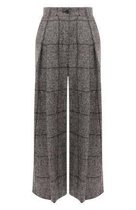 Женские шерстяные брюки DOLCE & GABBANA коричневого цвета, арт. FTBWJT/FQMIA | Фото 1