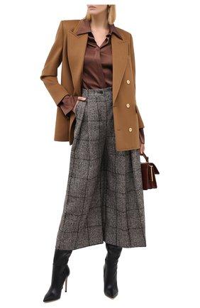 Женские шерстяные брюки DOLCE & GABBANA коричневого цвета, арт. FTBWJT/FQMIA | Фото 2