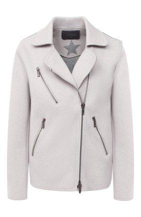 Женская шерстяная куртка LORENA ANTONIAZZI светло-серого цвета, арт. A2001CP036/2631   Фото 1