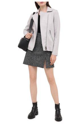 Женская шерстяная куртка LORENA ANTONIAZZI светло-серого цвета, арт. A2001CP036/2631   Фото 2