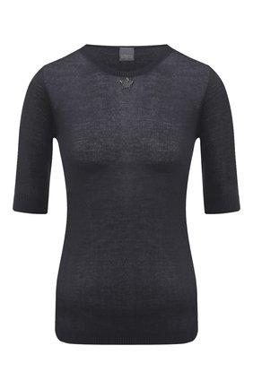 Женская кашемировый пуловер LORENA ANTONIAZZI темно-синего цвета, арт. A20100TM003/243   Фото 1