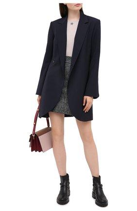 Женская кашемировый пуловер LORENA ANTONIAZZI светло-серого цвета, арт. A20100TM003/243   Фото 2