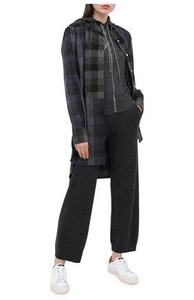 Женская кашемировое худи LORENA ANTONIAZZI темно-серого цвета, арт. A20103FM006/243   Фото 2