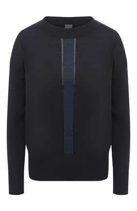 Женская кашемировый пуловер LORENA ANTONIAZZI темно-синего цвета, арт. A20107BM002/247   Фото 1