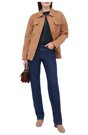 Женская кашемировый пуловер LORENA ANTONIAZZI темно-синего цвета, арт. A20107BM002/247   Фото 2