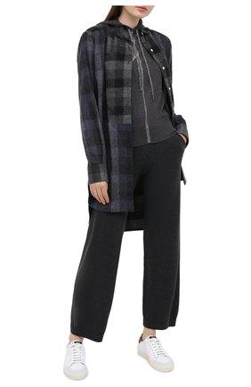 Женские кашемировые брюки LORENA ANTONIAZZI темно-серого цвета, арт. A20113PM002/117   Фото 2