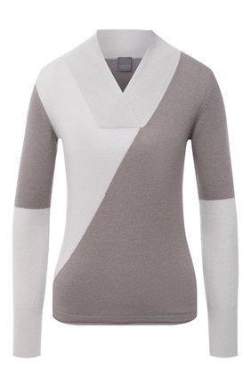 Женский кашемировый пуловер LORENA ANTONIAZZI бежевого цвета, арт. A20117VM015/117 | Фото 1
