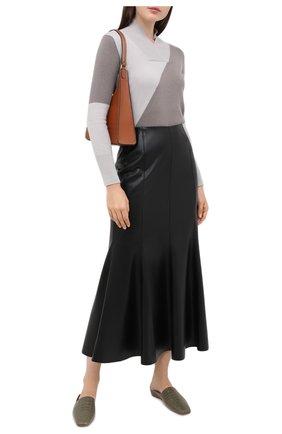 Женский кашемировый пуловер LORENA ANTONIAZZI бежевого цвета, арт. A20117VM015/117 | Фото 2