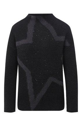 Женская шерстяной свитер LORENA ANTONIAZZI черного цвета, арт. A20127DM039/328   Фото 1