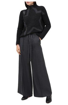 Женская шерстяной свитер LORENA ANTONIAZZI черного цвета, арт. A20127DM039/328   Фото 2