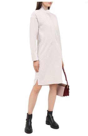 Женское шерстяное платье LORENA ANTONIAZZI кремвого цвета, арт. A2044AB009/3068 | Фото 2