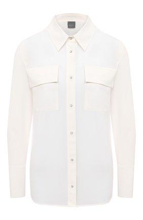 Женская шелковая рубашка LORENA ANTONIAZZI белого цвета, арт. A2054CA020/3186   Фото 1
