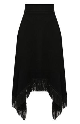 Женская юбка из шерсти и кашемира SAINT LAURENT черного цвета, арт. 630950/Y5B35 | Фото 1