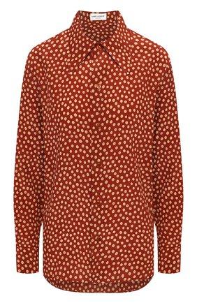 Женская шелковая рубашка SAINT LAURENT красного цвета, арт. 626928/Y3B46 | Фото 1