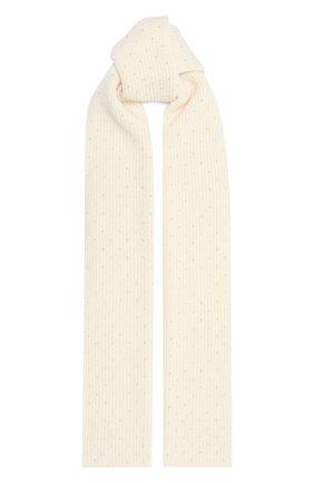 Мужские кашемировый шарф WILLIAM SHARP белого цвета, арт. A111-1 | Фото 1