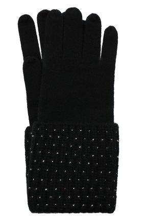 Женские кашемировые перчатки WILLIAM SHARP черного цвета, арт. A113-1 | Фото 1