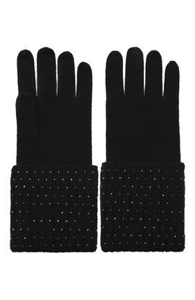 Женские кашемировые перчатки WILLIAM SHARP черного цвета, арт. A113-1 | Фото 2