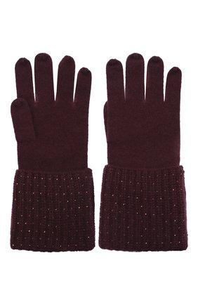 Женские кашемировые перчатки WILLIAM SHARP бордового цвета, арт. A113-1 | Фото 2