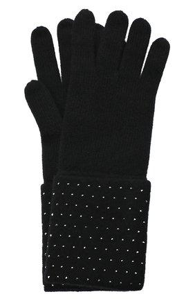 Женские кашемировые перчатки WILLIAM SHARP черного цвета, арт. A120-1 | Фото 1