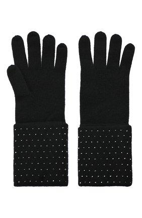 Женские кашемировые перчатки WILLIAM SHARP черного цвета, арт. A120-1 | Фото 2