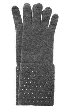 Женские кашемировые перчатки WILLIAM SHARP темно-серого цвета, арт. A120-1 | Фото 1