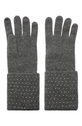 Женские кашемировые перчатки WILLIAM SHARP темно-серого цвета, арт. A120-1 | Фото 2