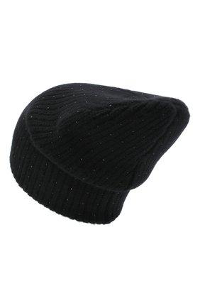 Женская кашемировая шапка WILLIAM SHARP черного цвета, арт. A61-13 | Фото 2