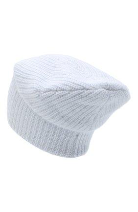 Женский кашемировая шапка WILLIAM SHARP голубого цвета, арт. A61-13 | Фото 2