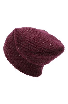Женский кашемировая шапка WILLIAM SHARP бордового цвета, арт. A61-13 | Фото 2