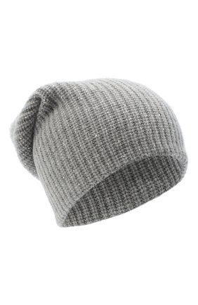 Женская кашемировая шапка WILLIAM SHARP серого цвета, арт. A61-13 | Фото 1