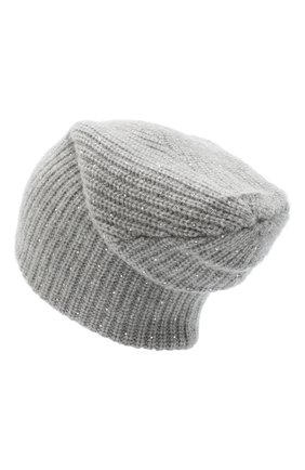 Женская кашемировая шапка WILLIAM SHARP серого цвета, арт. A61-13 | Фото 2