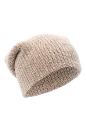 Женская кашемировая шапка WILLIAM SHARP бежевого цвета, арт. A61-13 | Фото 1