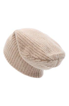 Женская кашемировая шапка WILLIAM SHARP бежевого цвета, арт. A61-13 | Фото 2