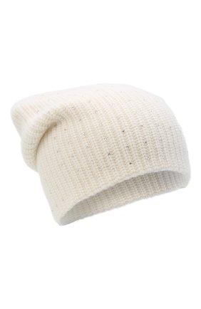 Женский кашемировая шапка WILLIAM SHARP белого цвета, арт. A61-13 | Фото 1