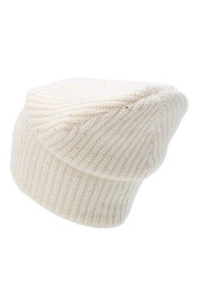 Женский кашемировая шапка WILLIAM SHARP белого цвета, арт. A61-13 | Фото 2
