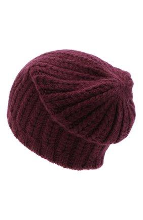 Женский кашемировая шапка WILLIAM SHARP бордового цвета, арт. A76-PL-19 | Фото 2