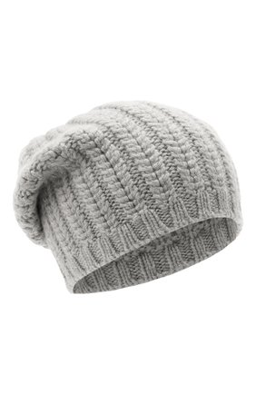 Женский кашемировая шапка WILLIAM SHARP светло-серого цвета, арт. A76-PL-19 | Фото 1