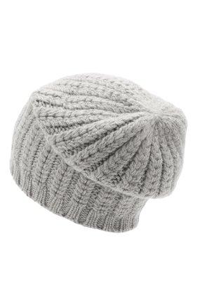 Женский кашемировая шапка WILLIAM SHARP светло-серого цвета, арт. A76-PL-19 | Фото 2