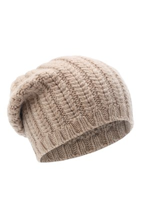 Женский кашемировая шапка WILLIAM SHARP бежевого цвета, арт. A76-PL-19 | Фото 1
