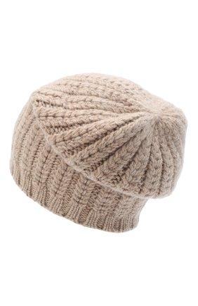Женский кашемировая шапка WILLIAM SHARP бежевого цвета, арт. A76-PL-19 | Фото 2