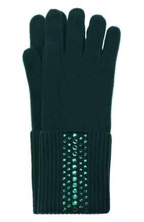 Женские кашемировые перчатки WILLIAM SHARP зеленого цвета, арт. GL 11-52 | Фото 1
