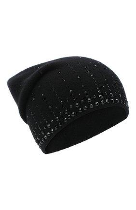 Женский кашемировая шапка WILLIAM SHARP черного цвета, арт. HT 19-52 | Фото 1