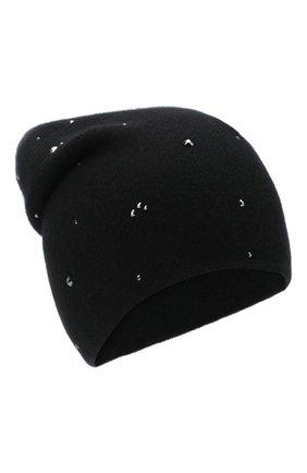 Женский кашемировая шапка WILLIAM SHARP черного цвета, арт. HT 19-53 | Фото 1