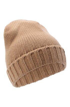 Женский кашемировая шапка MOORER светло-коричневого цвета, арт. BERRETT0 F0R HER-CWS/A20MA11CASH | Фото 1