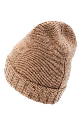 Женский кашемировая шапка MOORER светло-коричневого цвета, арт. BERRETT0 F0R HER-CWS/A20MA11CASH | Фото 2