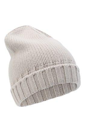 Женский кашемировая шапка MOORER серого цвета, арт. BERRETT0 F0R HER-CWS/A20MA11CASH | Фото 1